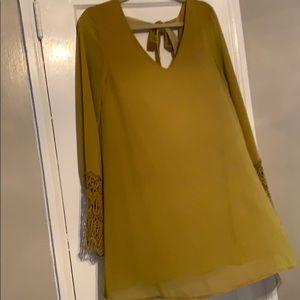 Mustard yellow/green dress